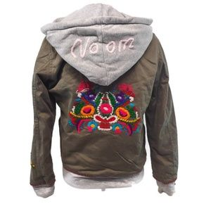 Embroidered Voom By Joy Han lined jacket, colorful